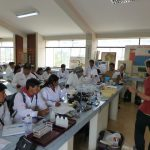 Soil quality training with students at the University of Huancavelica, Peru